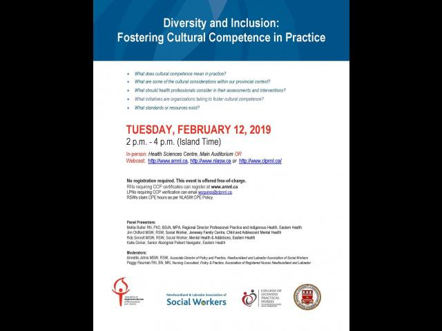 Diversity and Inclusion: Fostering Cultural Competence in Practice